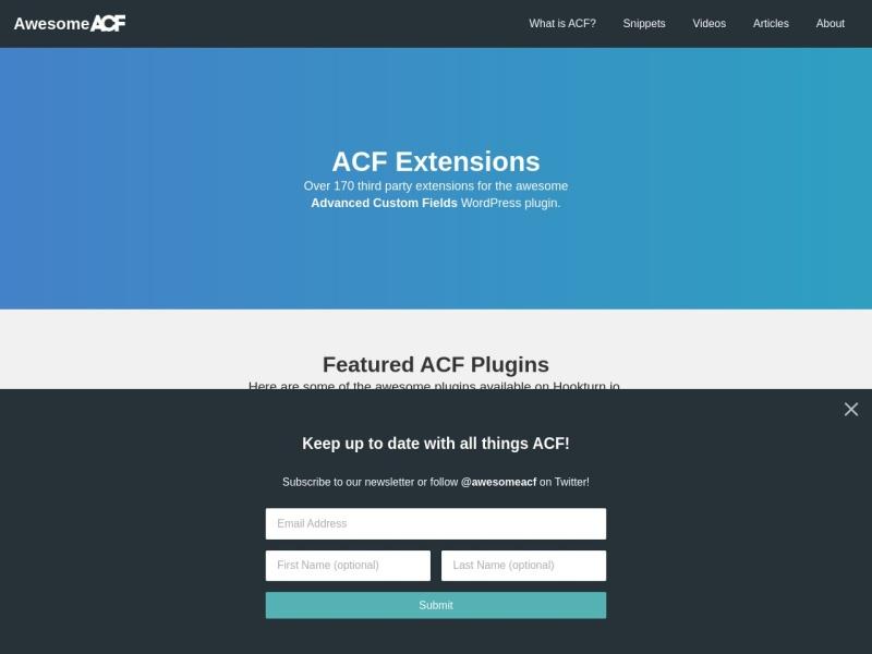 Awesome ACF | Advanced Custom Fieldsを拡張するアドオン紹介サイト