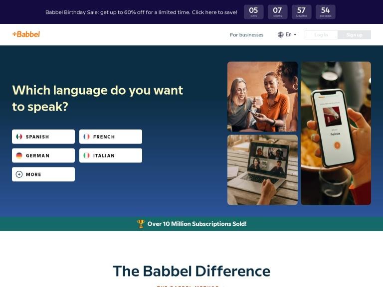 Codice sconto Babbel screenshot