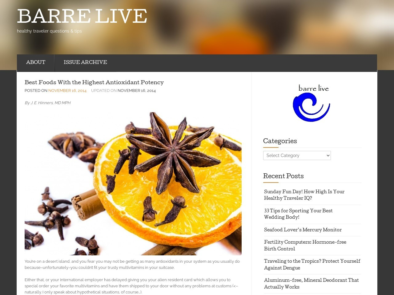 Best Foods With the Highest Antioxidant Potency … – barre live
