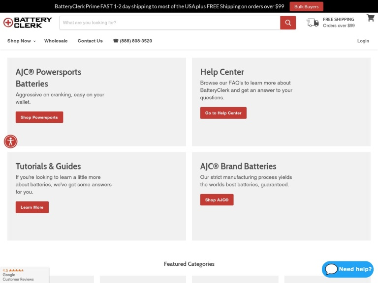 BatteryClerk.com Coupon Codes