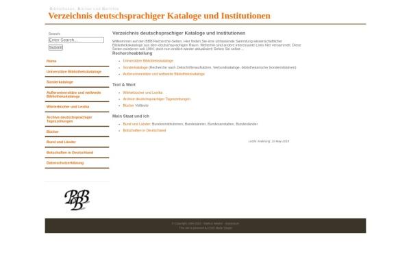 Vorschau von bbb.neteler.org, Bibliotheken, Bücher und Berichte