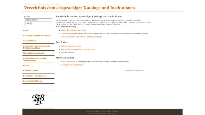 bbb.neteler.org Vorschau, Bibliotheken, Bücher und Berichte