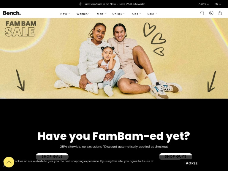 Bench.ca screenshot