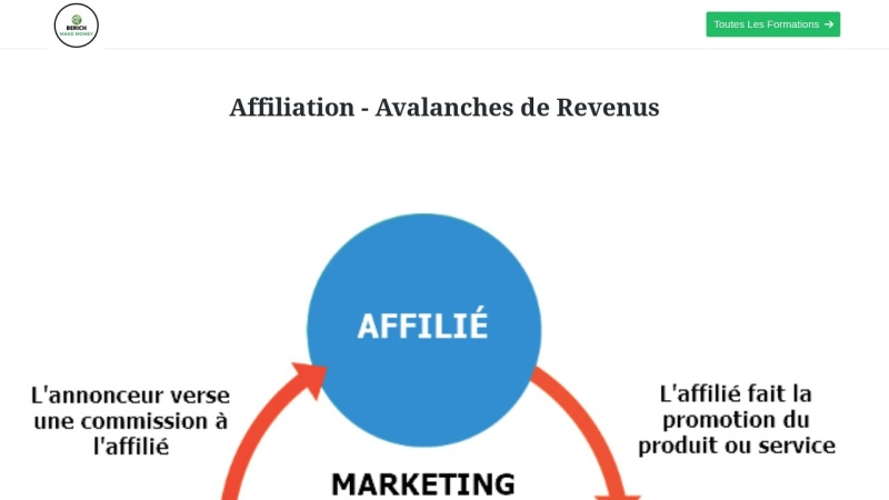 affiliation - avalanches de revenus