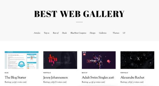 Best Web Gallery präsentiert beeindruckende und moderne Website-Designs