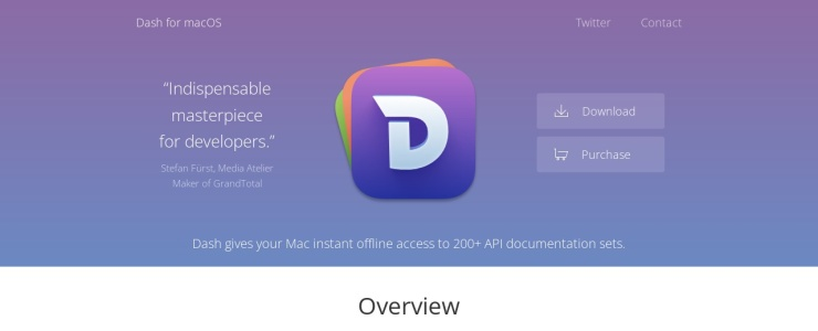 screenshot of Dash