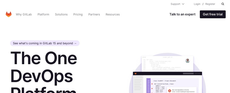screenshot of GitLab