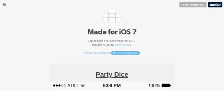 screenshot of Made for iOS 7
