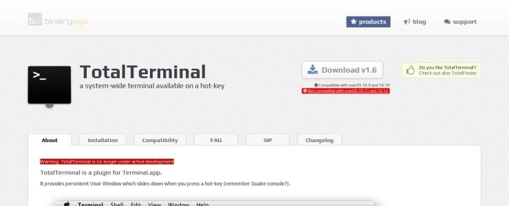screenshot of TotalTerminal