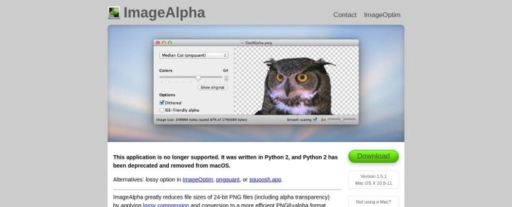 screenshot of ImageAlpha