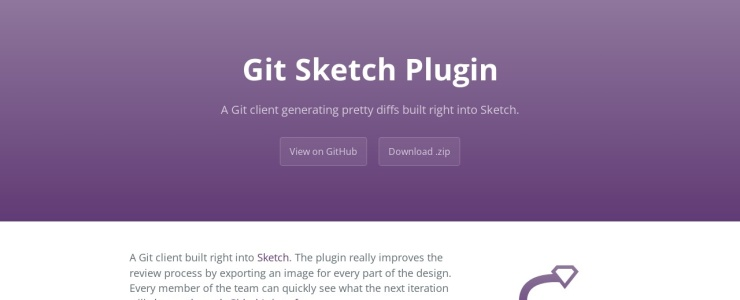 screenshot of Git Sketch Plugin