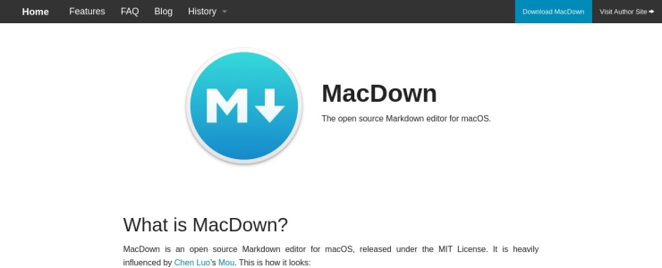 screenshot of MacDown