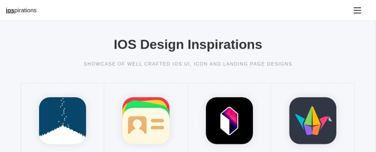 screenshot of iOSpirations