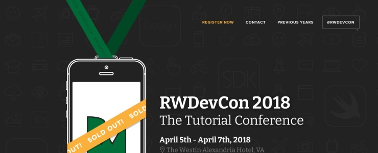 screenshot of RWDevCon