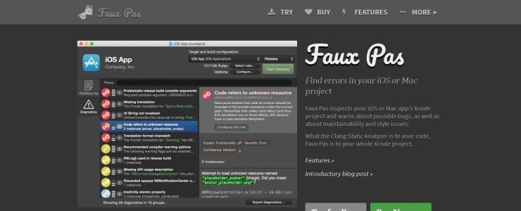 screenshot of Faux Pas