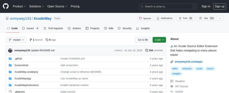 screenshot of XcodeWay