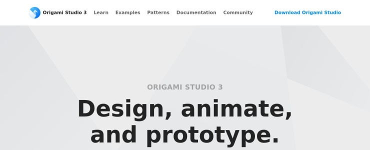 screenshot of Origami Studio