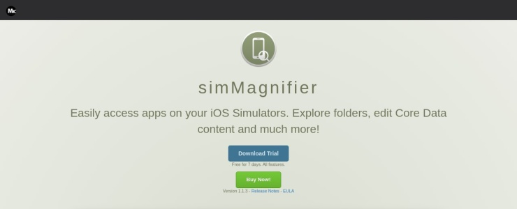 screenshot of simMagnifier