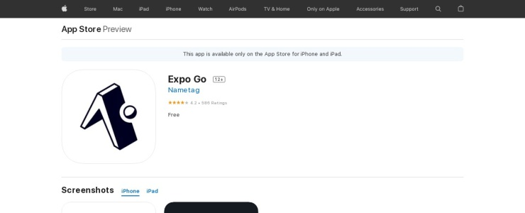 screenshot of Expo