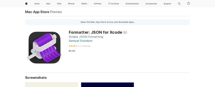 screenshot of Formatter
