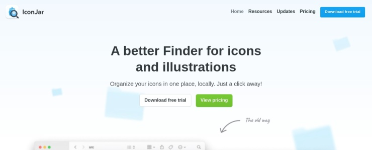 screenshot of IconJar