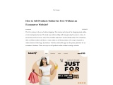 FC2- How to Sell Products Online for Free Without an Ecommerce Website?