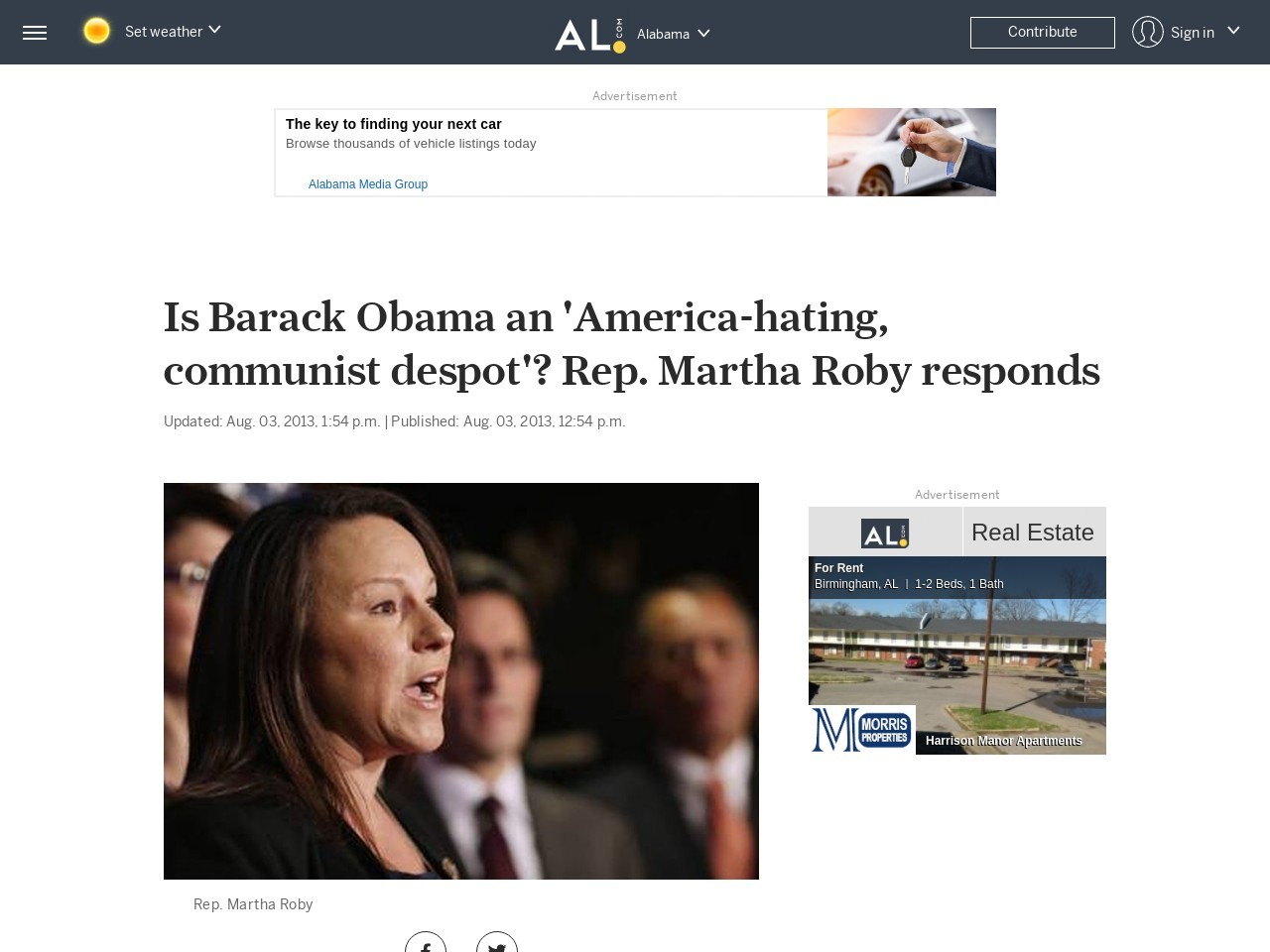 Is Barack Obama an 'America-hating, communist despot'? Rep. Martha Roby ...