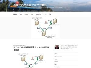 さくらのVPS 無料期間中でもメール送信する方法 - 黒川仁の文具堂ブログ三昧のスクリーンショット