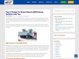 IRS Form 2290 Online – 2290 Heavy Vehicle Use Tax (HVUT)