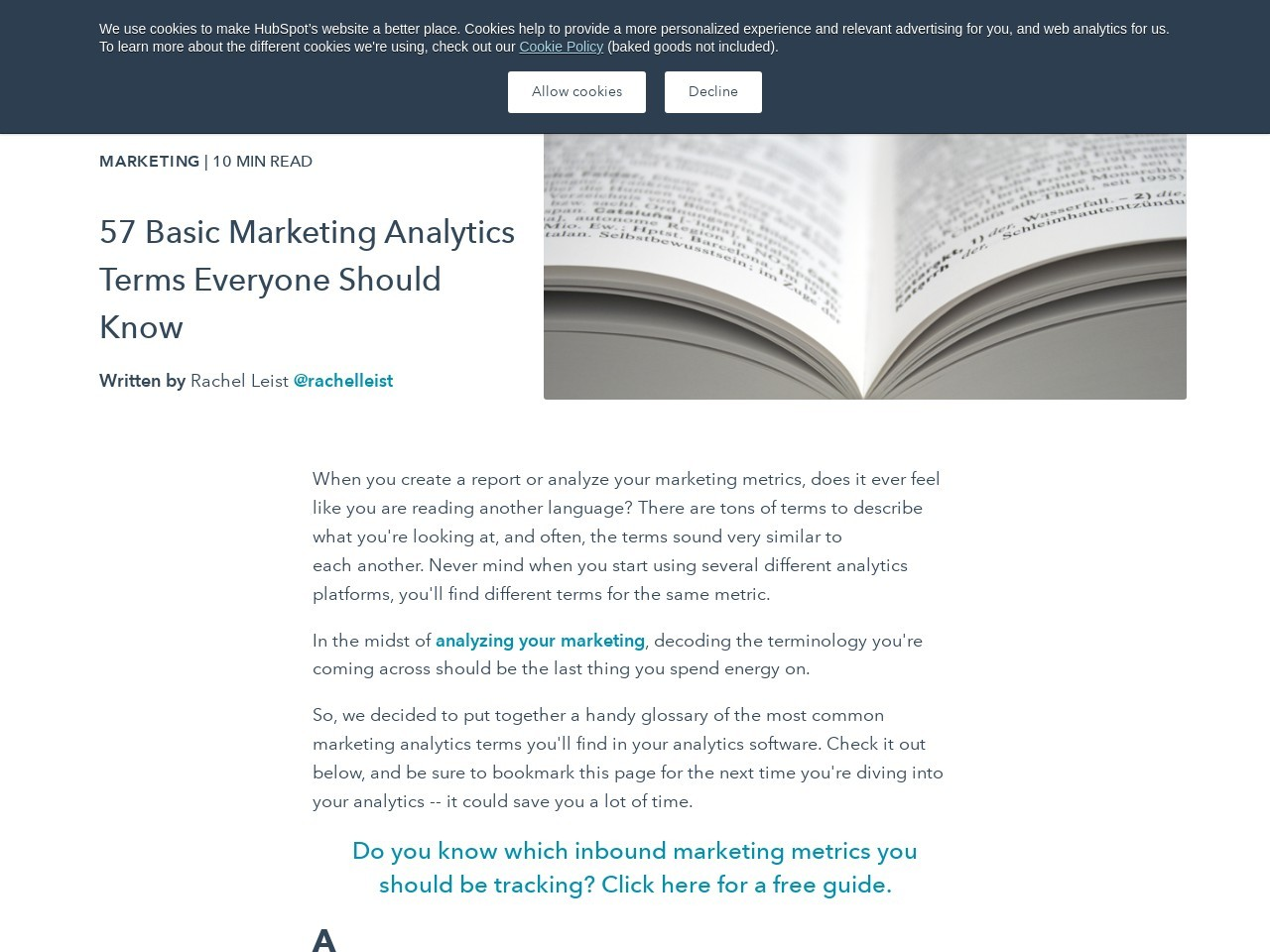 57 Basic Marketing Analytics Terms Everyone Should Know