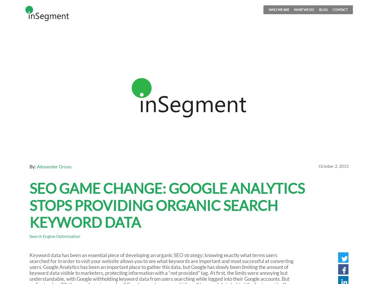 inSegment Digital Marketing Blog » Blog Archive » SEO Game …