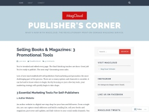 Publisher's Corner using the Delicious Magazine WordPress Theme