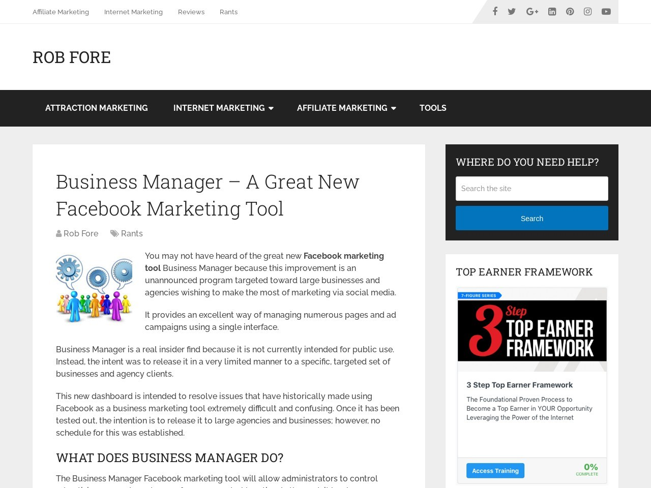 Business Manager – A Great New Facebook Marketing Tool