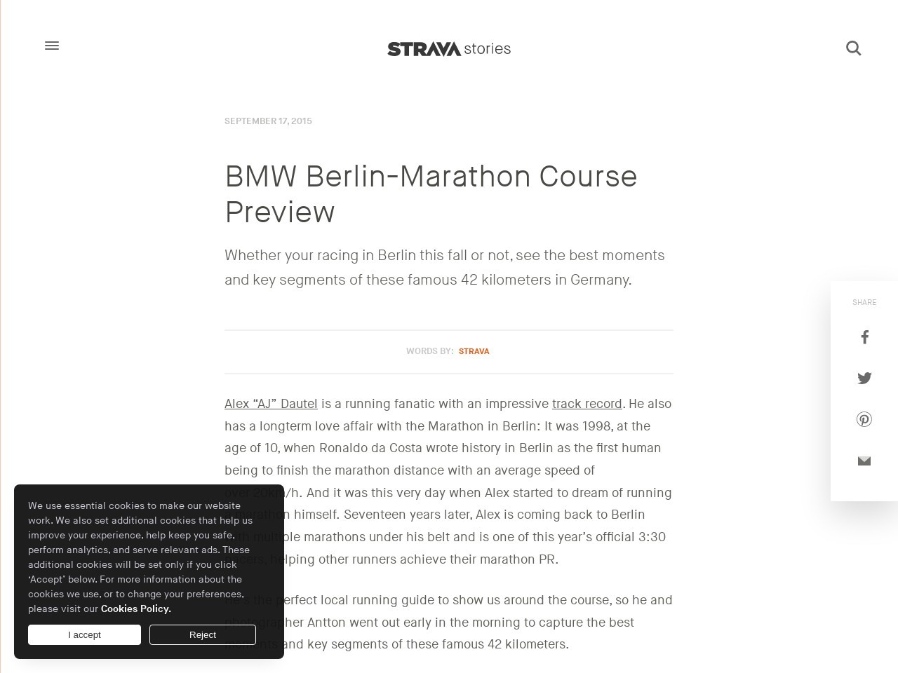 Berlin Marathon Course Insights   Strava