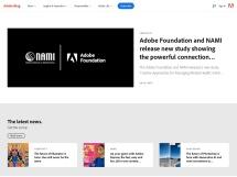 Ejemplo de página Web generada con WordPress en la que se muestra la página estructurada en varias columnas de información