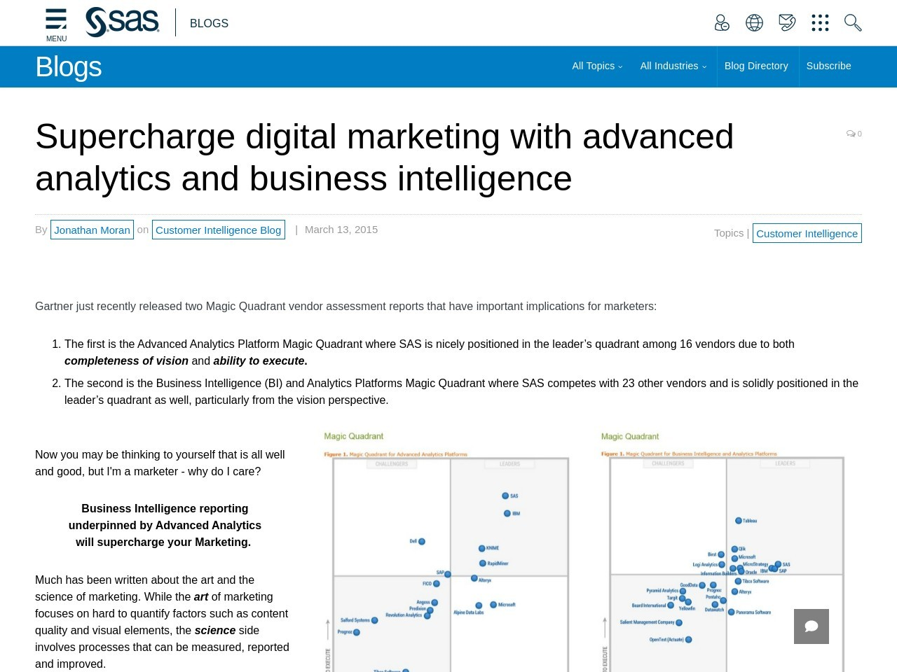 Supercharge digital marketing with advanced analytics and …