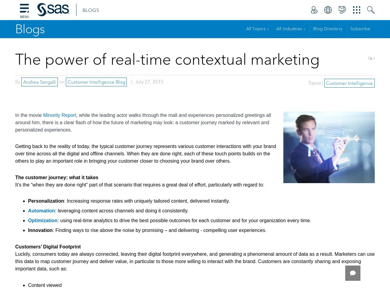The power of real-time contextual marketing – SAS Blogs