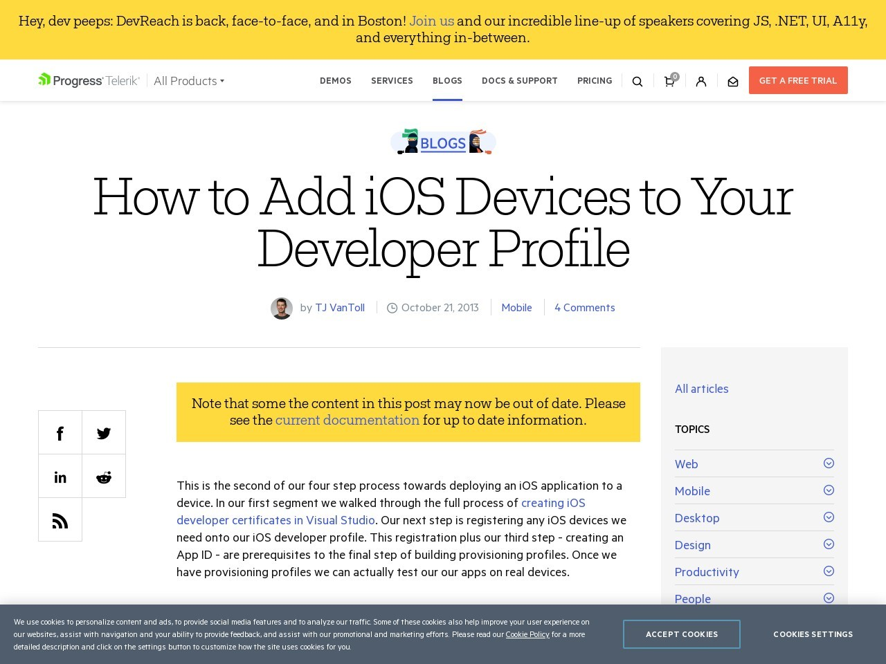 How to Add iOS Devices to Your Developer Profile – Blogs – Telerik