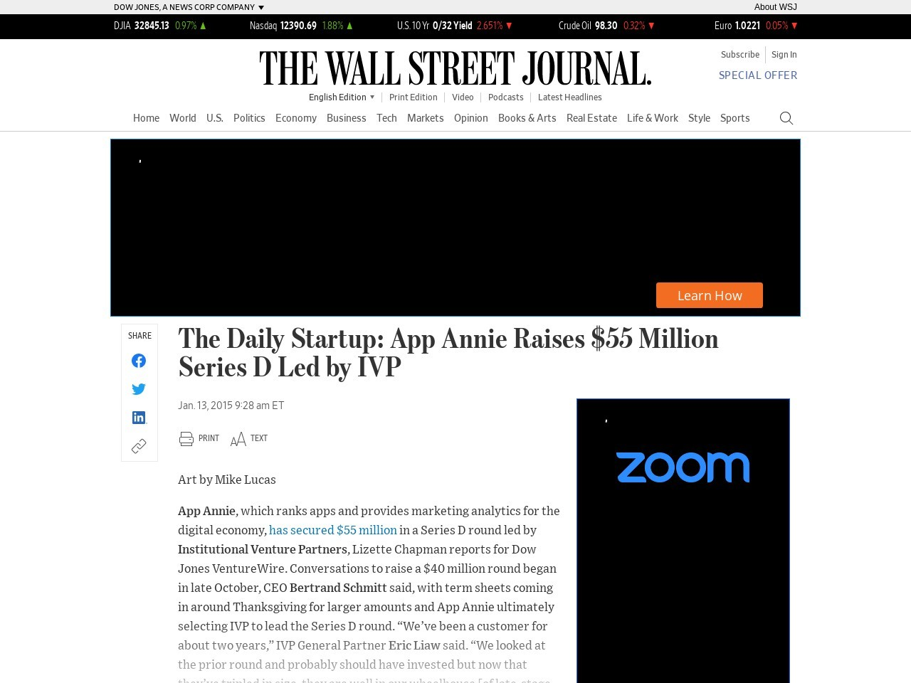 The Daily Startup: App Annie Raises $55 Million Series D Led by IVP