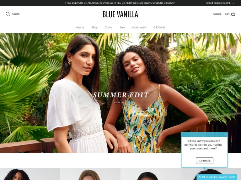 Blue Vanilla Free Delivery screenshot