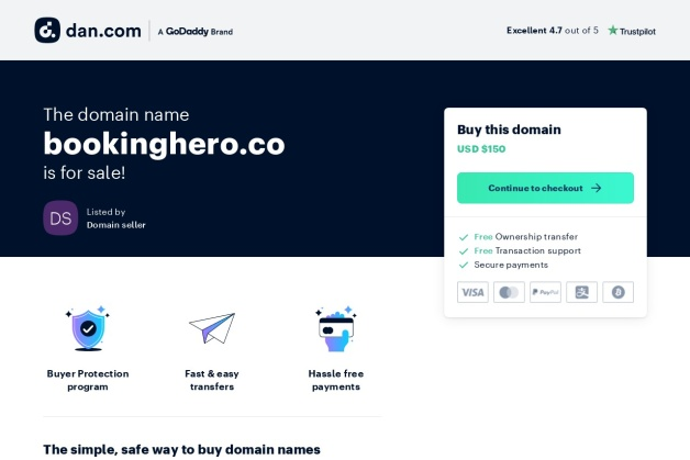 Screenshot von bookinghero.co