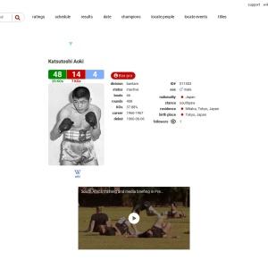 BoxRec: Katsutoshi Aoki