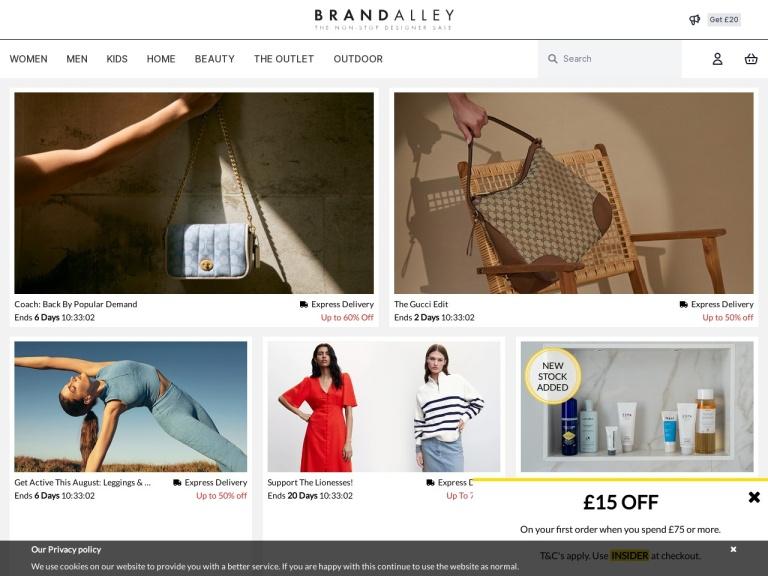 Codice sconto Brandalley screenshot