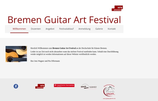Vorschau von bremenguitarart.hfk-bremen.de, bremen guitar art