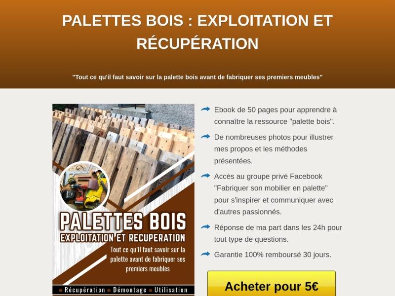 palette-bois: exploitation et recuperation / ebook