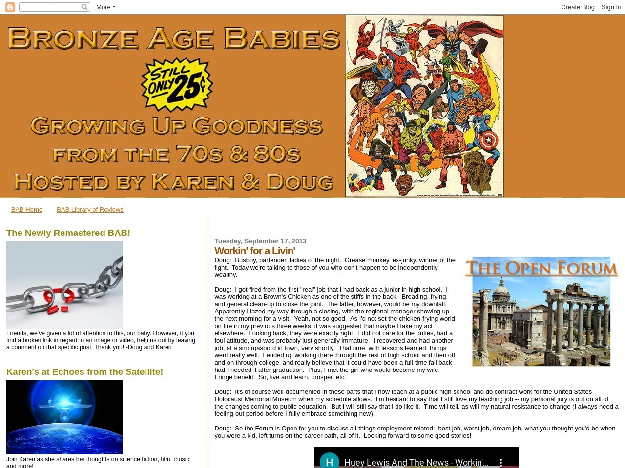 Bronze Age Babies: Workin' for a Livin'