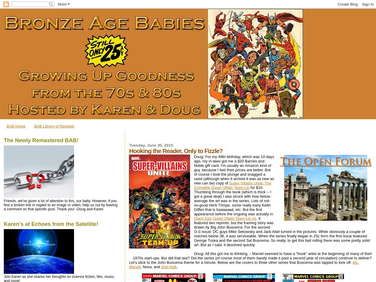 Bronze Age Babies: Hooking the Reader, Only to Fizzle?