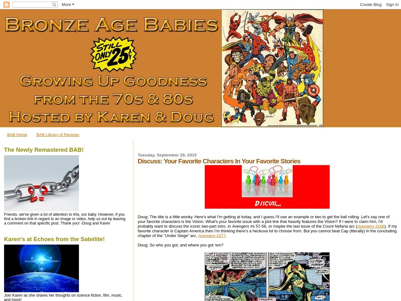 Bronze Age Babies: Discuss: Your Favorite Characters In …