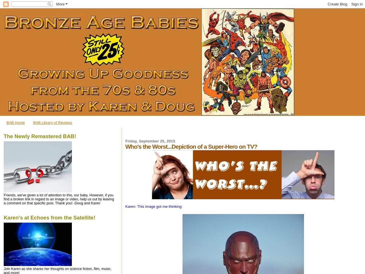 Bronze Age Babies: Who's the Worst…Depiction of a Super …