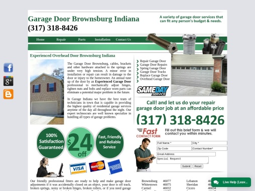 Brownsburg IN Garage Door 46112